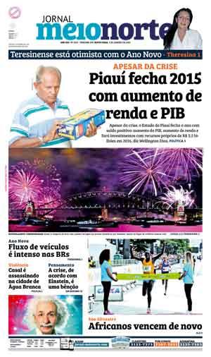 Jornal Meio Norte do dia 1-01-2016