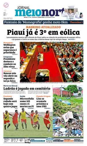 Jornal Meio Norte do dia 3-02-2016