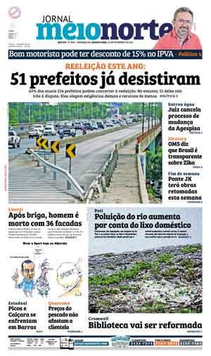 Jornal Meio Norte do dia 24-02-2016