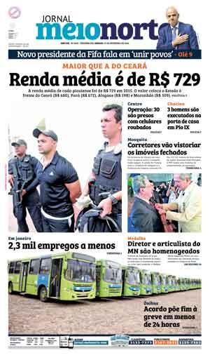 Jornal Meio Norte do dia 27-02-2016