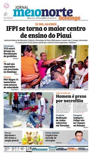 Jornal Meio Norte do dia 27-03-2016