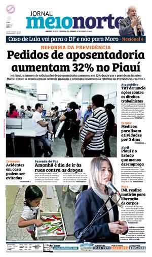 Jornal Meio Norte do dia 25-06-2016