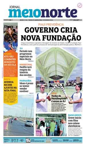 Jornal Meio Norte do dia 7-09-2016
