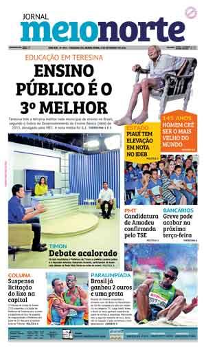Jornal Meio Norte do dia 9-09-2016