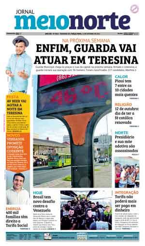 Jornal Meio Norte do dia 11-10-2016