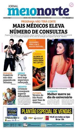 Jornal Meio Norte do dia 30-10-2016