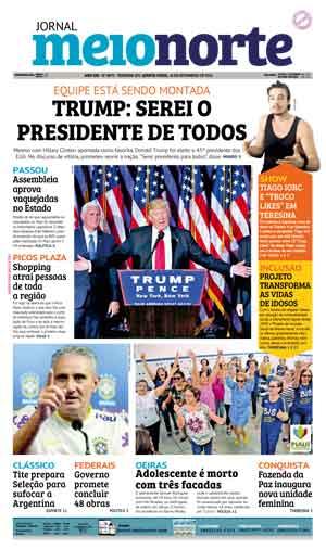 Jornal Meio Norte do dia 10-11-2016