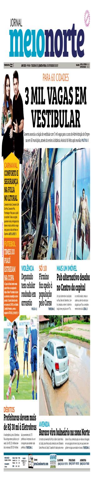 Jornal Meio Norte do dia 8-02-2017