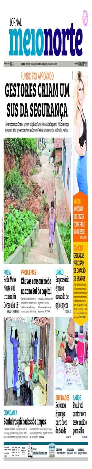 Jornal Meio Norte do dia 16-02-2017