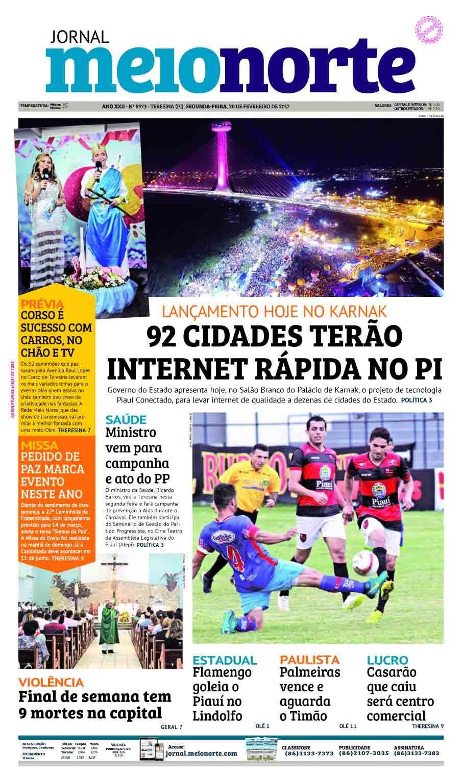 Jornal Meio Norte do dia 20-02-2017