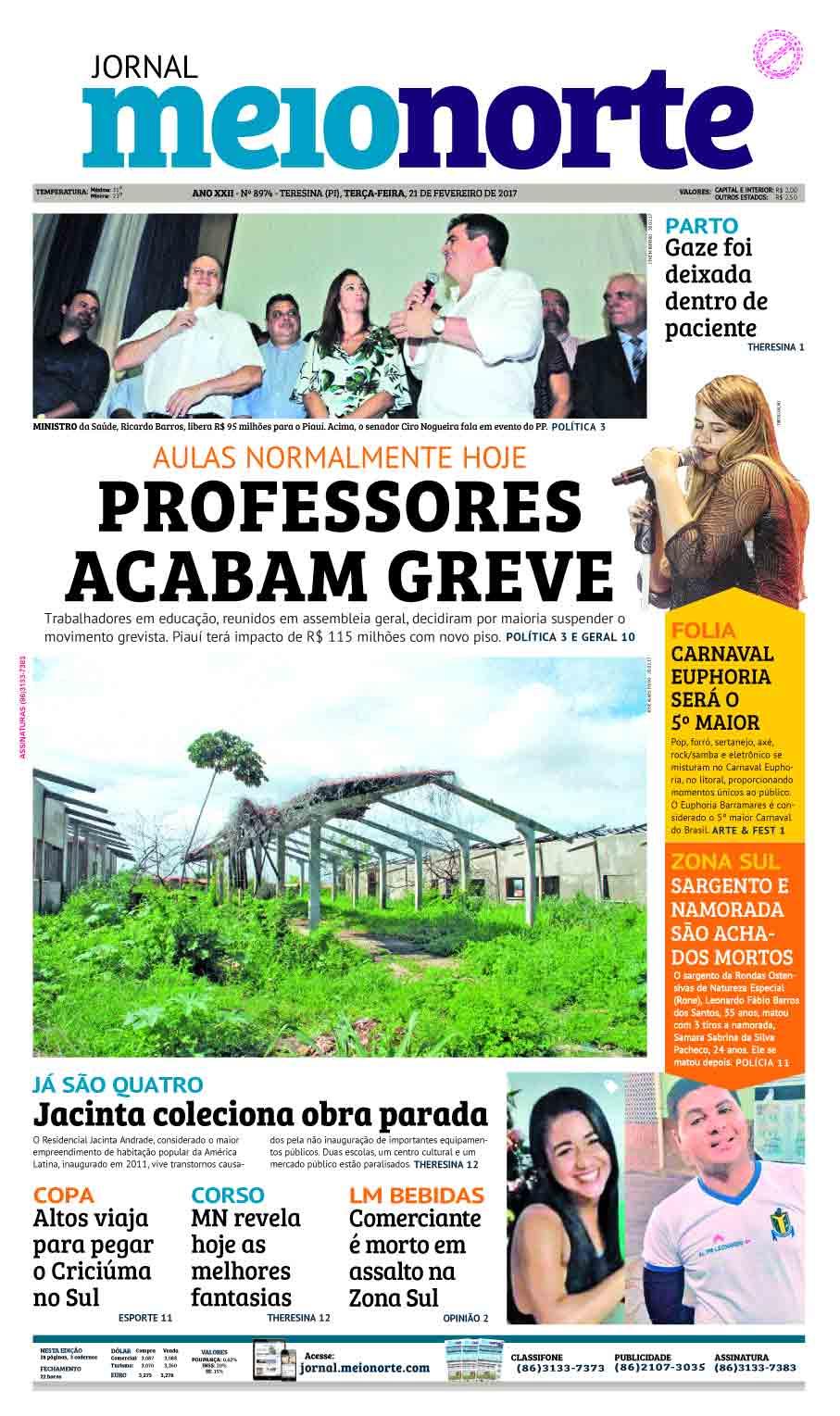 Jornal Meio Norte do dia 21-02-2017