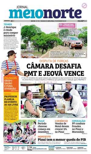Jornal Meio Norte do dia 17-11-2017