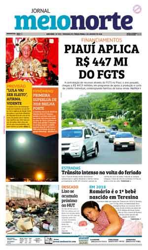 Jornal Meio Norte do dia 2-01-2018