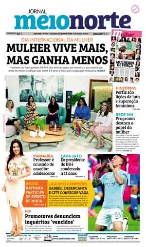 Jornal Meio Norte do dia 8-03-2018