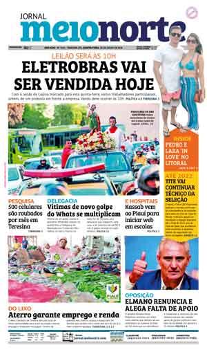 Jornal Meio Norte do dia 26-07-2018