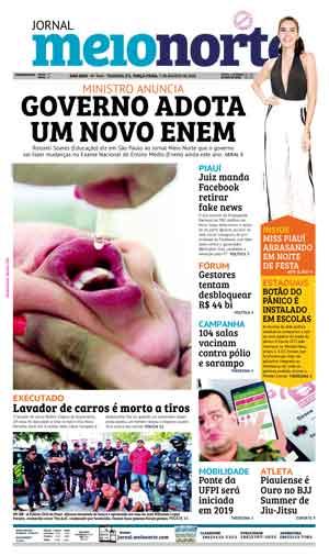 Jornal Meio Norte do dia 7-08-2018