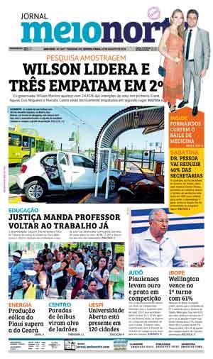Jornal Meio Norte do dia 22-08-2018