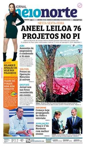 Jornal Meio Norte do dia 31-08-2018