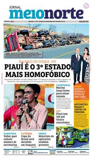 Jornal Meio Norte do dia 28-09-2018
