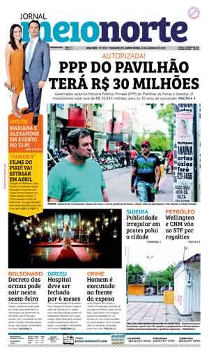 Jornal Meio Norte do dia 11-01-2019
