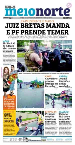 Jornal Meio Norte do dia 22-03-2019