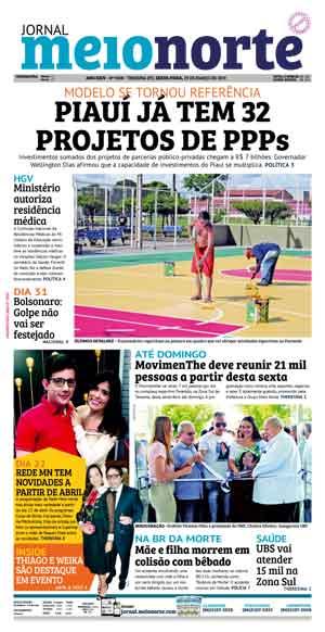 Jornal Meio Norte do dia 29-03-2019
