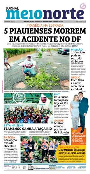 Jornal Meio Norte do dia 1-04-2019