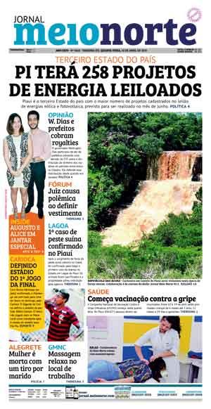 Jornal Meio Norte do dia 10-04-2019