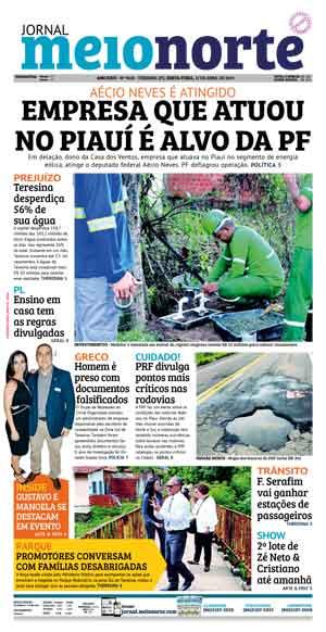 Jornal Meio Norte do dia 12-04-2019