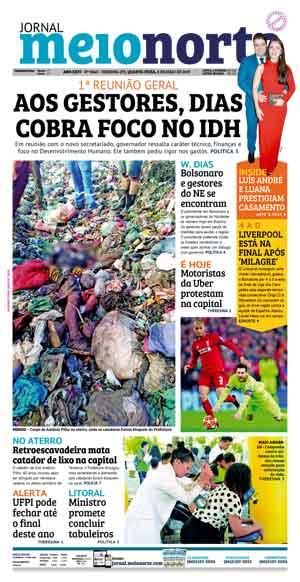 Jornal Meio Norte do dia 8-05-2019