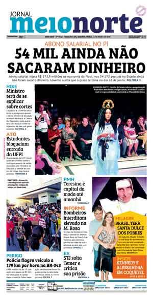 Jornal Meio Norte do dia 15-05-2019