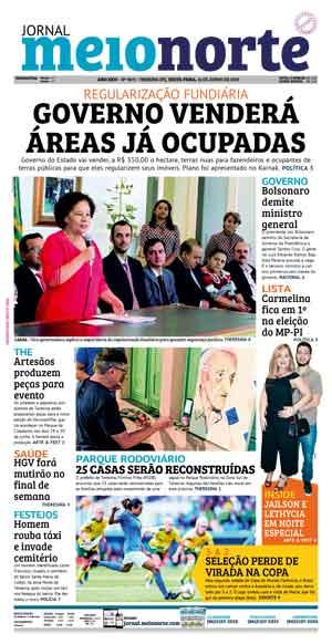 Jornal Meio Norte do dia 13-01-2019
