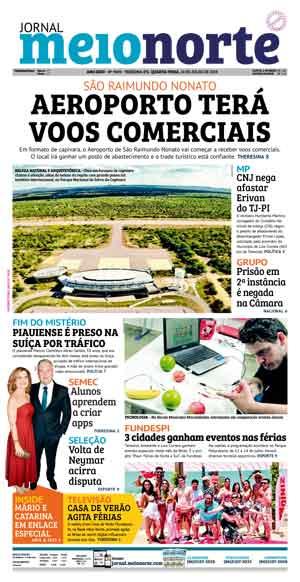 Jornal Meio Norte do dia 10-07-2019