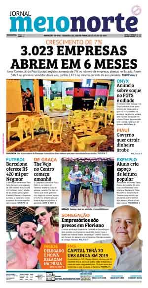 Jornal Meio Norte do dia 19-07-2019