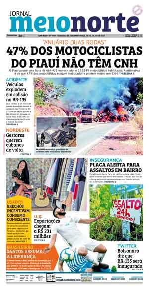 Jornal Meio Norte do dia 29-07-2019