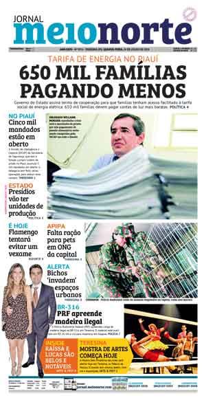 Jornal Meio Norte do dia 31-07-2019
