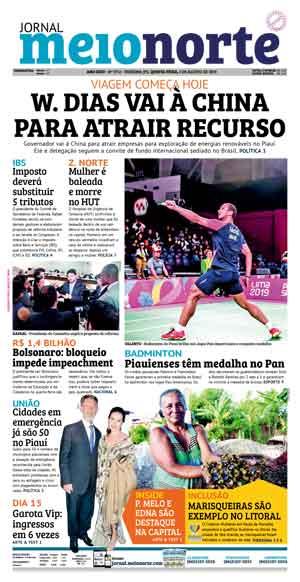 Jornal Meio Norte do dia 1-08-2019