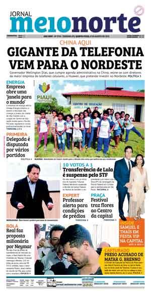 Jornal Meio Norte do dia 8-08-2019