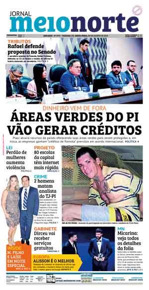 Jornal Meio Norte do dia 30-08-2019