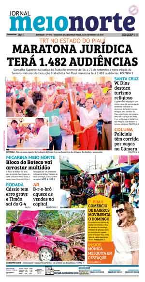 Jornal Meio Norte do dia 16-09-2019
