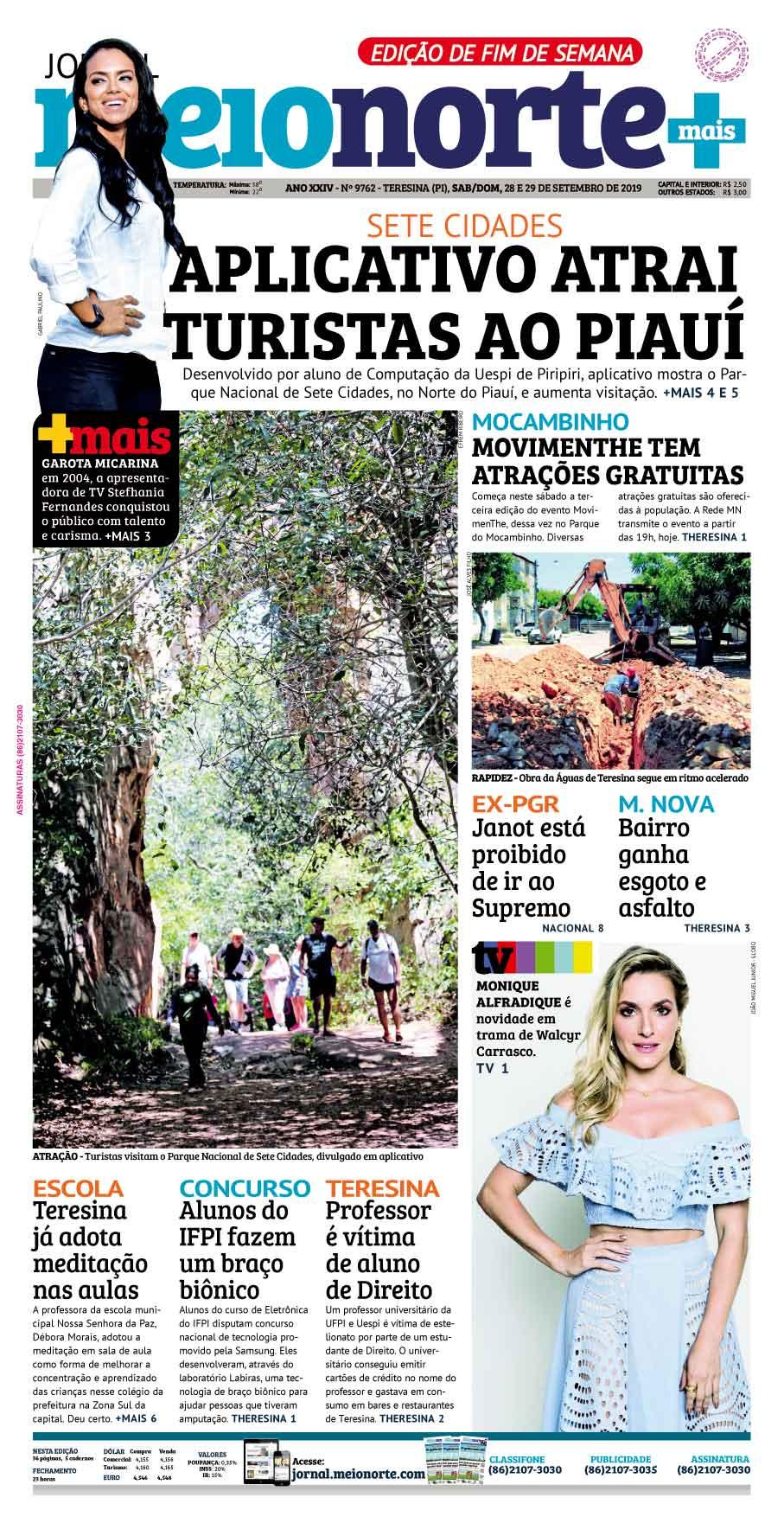 Jornal Meio Norte do dia 29-09-2019