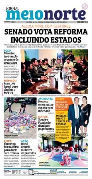 Jornal Meio Norte do dia 1-10-2019