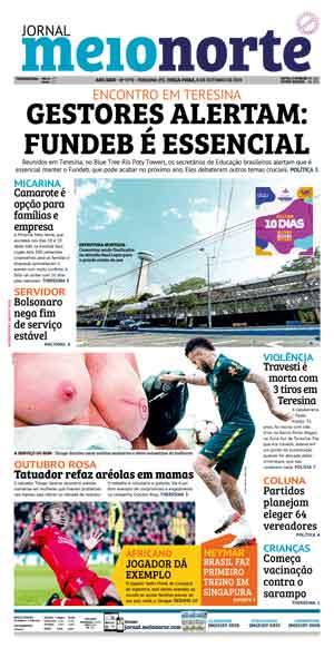 Jornal Meio Norte do dia 8-10-2019