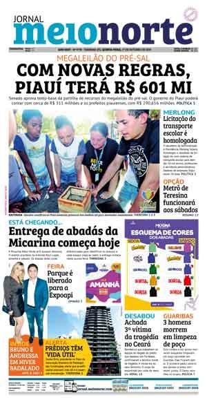 Jornal Meio Norte do dia 17-10-2019