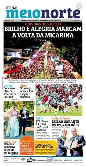 Jornal Meio Norte do dia 21-10-2019