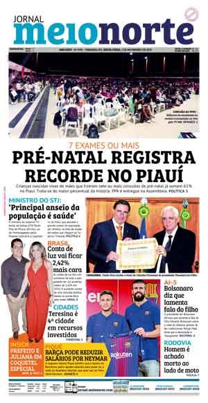 Jornal Meio Norte do dia 1-11-2019