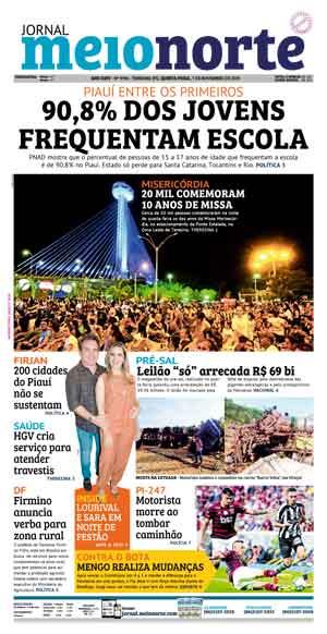 Jornal Meio Norte do dia 7-11-2019