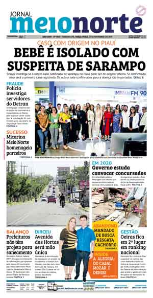 Jornal Meio Norte do dia 12-11-2019