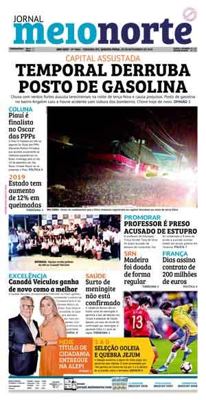 Jornal Meio Norte do dia 20-11-2019