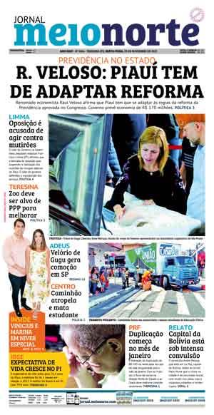 Jornal Meio Norte do dia 29-11-2019